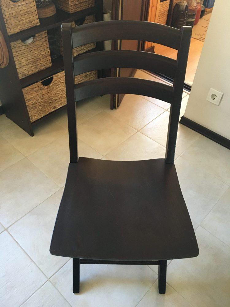 Деревянный стул до декорирования