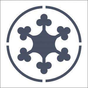 Изображение многоразового трафарета для декорирования Vse Repair 10101. Круг с узором внутри