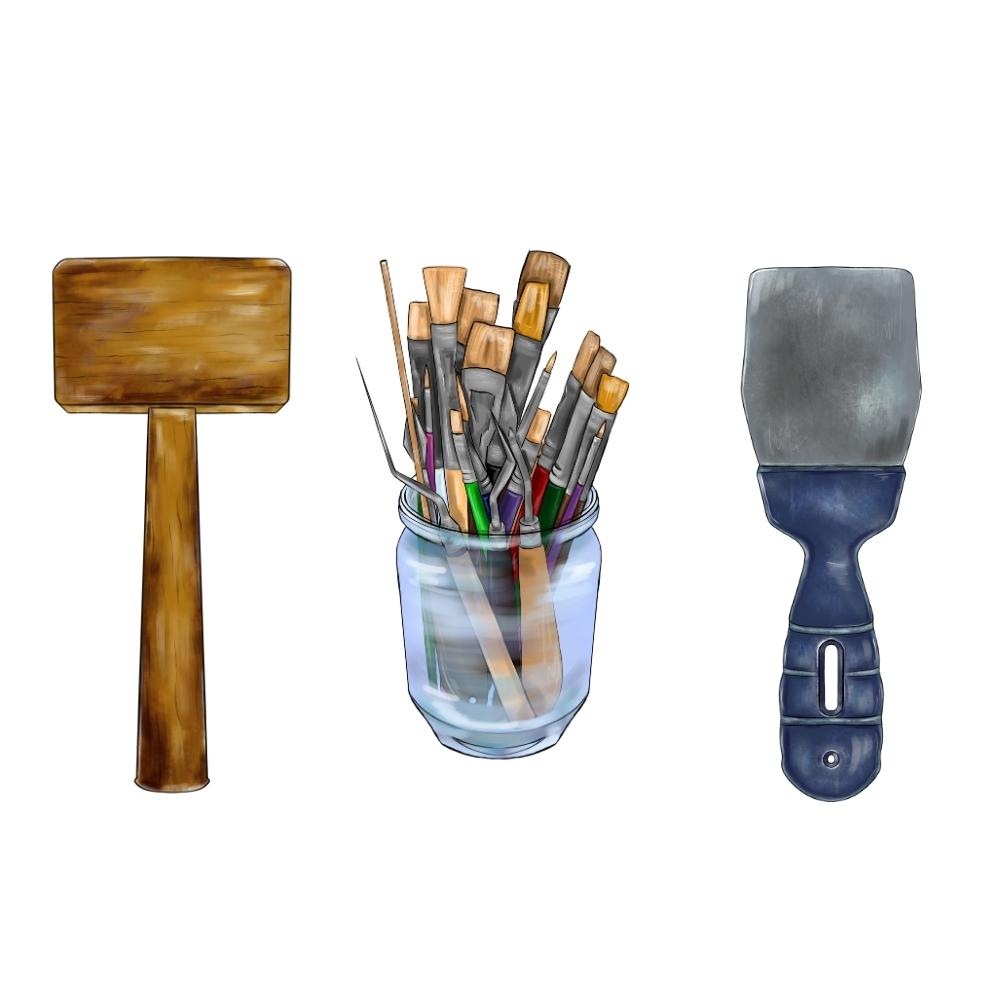 Инструменты для декорирования (арт)