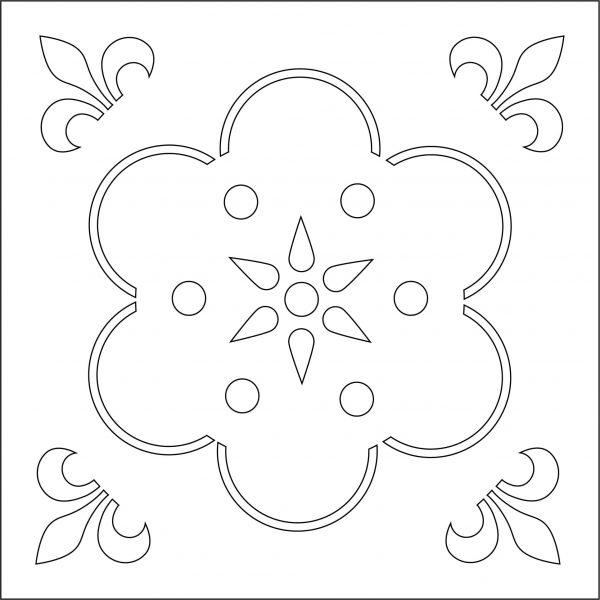 Схематическое изображение многоразового трафарета для декорирования Vse Repair 10102